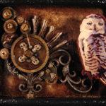 Ornithanatophobia: Owl (painting by Kat Houseman)